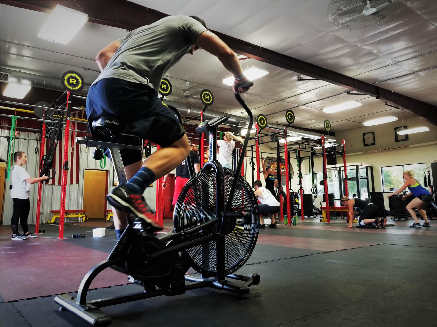 Athlete on Exercise Bike